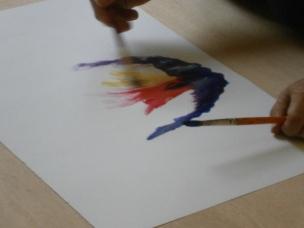 Création en atelier art-thérapie,